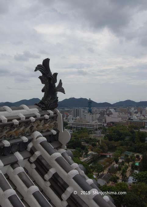 姫路城天守閣からの風景
