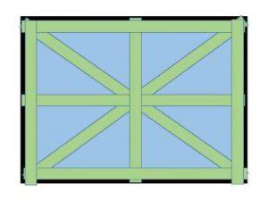 【台風対策】養生テープの窓への代表的な貼り方